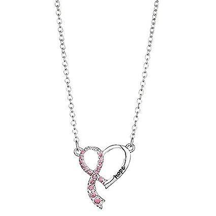 Amazon Avon Breast Cancer Crusade Heart Ribbon Necklace