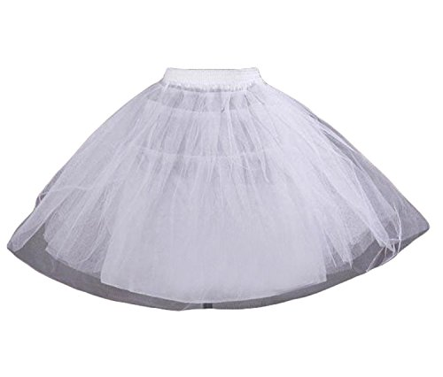 - Dannifore Girl's White Short Crinoline Petticoats Slips Underskirt for Wedding Party Style6,OneSize