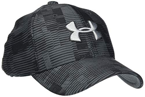 Under Armour Boy's Printed Blitzing 3.0 Hat, Pitch Gray//Mod Gray, Small/Medium