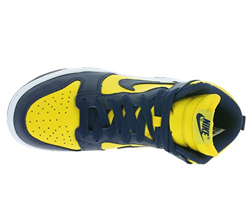 Nike Damen Dunk Retro QS Hallo Top Turnschuhe 854340 Turnschuhe Varsity Maize / Midnight Navy