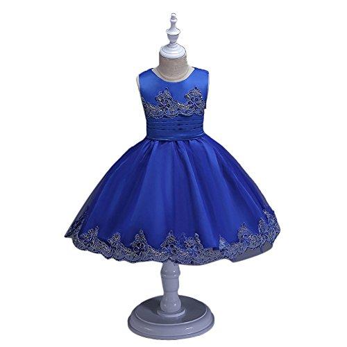 Princess Peach Plus Size Costume (Ealafee 2017 Blue Lace Flower Girls Dress Kids First Communion Dress Princess)