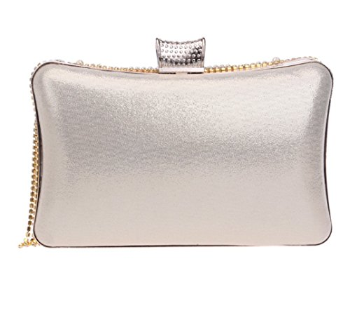 Prom Handbag For Gift Bag Clubs Shoulder Party Gold Clutch Women Pearl Wedding Tassel Purse Ladies Glitter Bridal Evening Bag Diamante Sequin IaxA7qw1