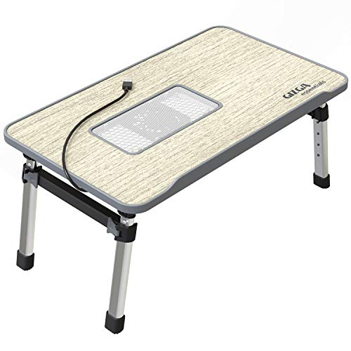 Gizga Essentials Smart Multi-Purpose Laptop Table  Study Table  Bed Table  Foldable  Adjustable Table Height  Ergonomic…