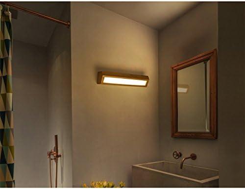 HOHE Shop Nórdico LED lámpara de Pared de Madera Maciza Escalera Pasillo Espejo de baño Frente lámpara Dormitorio lámpara de cabecera (Tamaño : 55cm): Amazon.es: Hogar