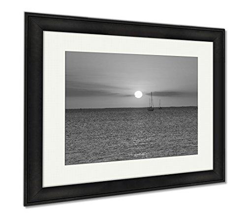 Ashley Framed Prints Port Charlotte Punta Gorda Florida Sunset, Wall Art Home Decoration, Black/White, 26x30 (frame size), Black Frame, - Port Charlotte Fit You