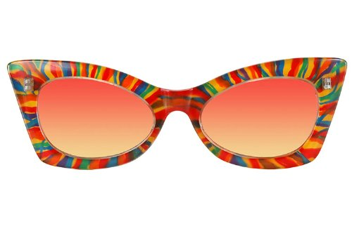 Cheetah Rainbow Sunglasses (Elope Adult Cheetah Rainbow Sunglasses)