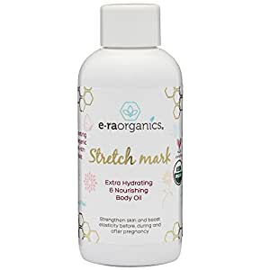 Organic Stretch Mark & Scar Treatment 4oz. USDA Certified Organic Nourishing Body Oil to Reduce, Remove & Prevent Pregnancy Stretch Marks For New Moms. Perfect Moisturizer For Dry, Damaged Skin.