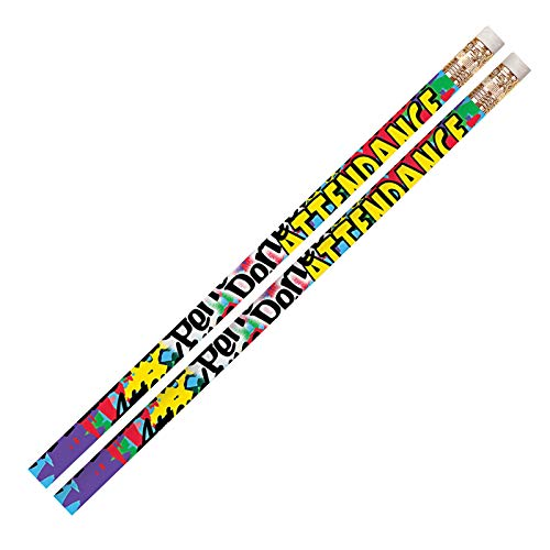 Musgrave Pencil Company MUS2329DBN Perfect Attendance Pencils, 12 Per Pack, 12 Packs ()