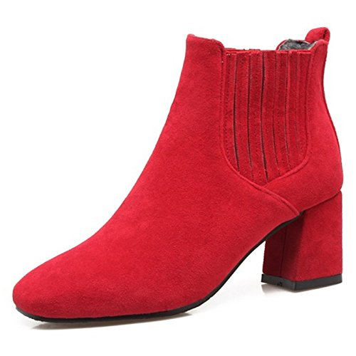 Coolcept Women Boots Pull On Red-1 jFKVN6uaH