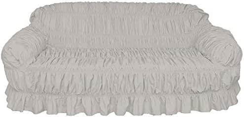 Knightsbridge Canvas Dyed Sofa Cover Grey 1 Seater