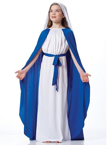 Bible Women Costumes (Francoamerican Novelty Company FR49417-M Girls Deluxe Mary Costume Size Medium)