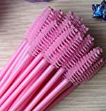 Best Quality - Eye Shadow Applicator - 1000pcs/lot make up brush synthetic fiber Disposable Eyelash Brush Mascara Applicator Pink mascara brush and Rose red brush - by Olwen Shop - 1 PCs