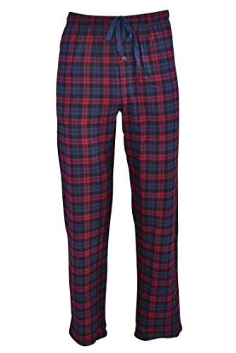 Hanes Men's 100% Cotton Flannel Plaid Pajama Pant, Red, X-Large ()