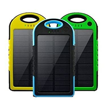 SolCharged Solar Charger || Weatherproof 4000mAh Power Bank (Yellow Trim)