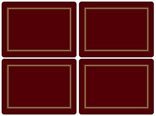 4 unidades, tama/ño grande Pimpernel Classic Mantel individual color burdeos y dorado