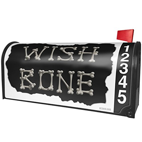 NEONBLOND Wish Bone Pirate Halloween Bones Magnetic Mailbox Cover Custom Numbers -