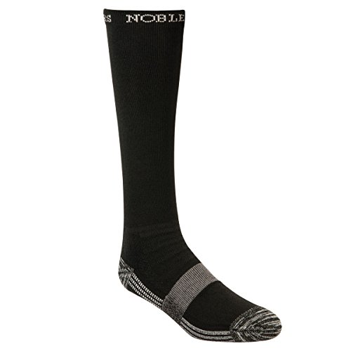Top Calf Leather (Noble Outfitters The Best Dang Boot Sock- Over the Calf, Black, Medium)