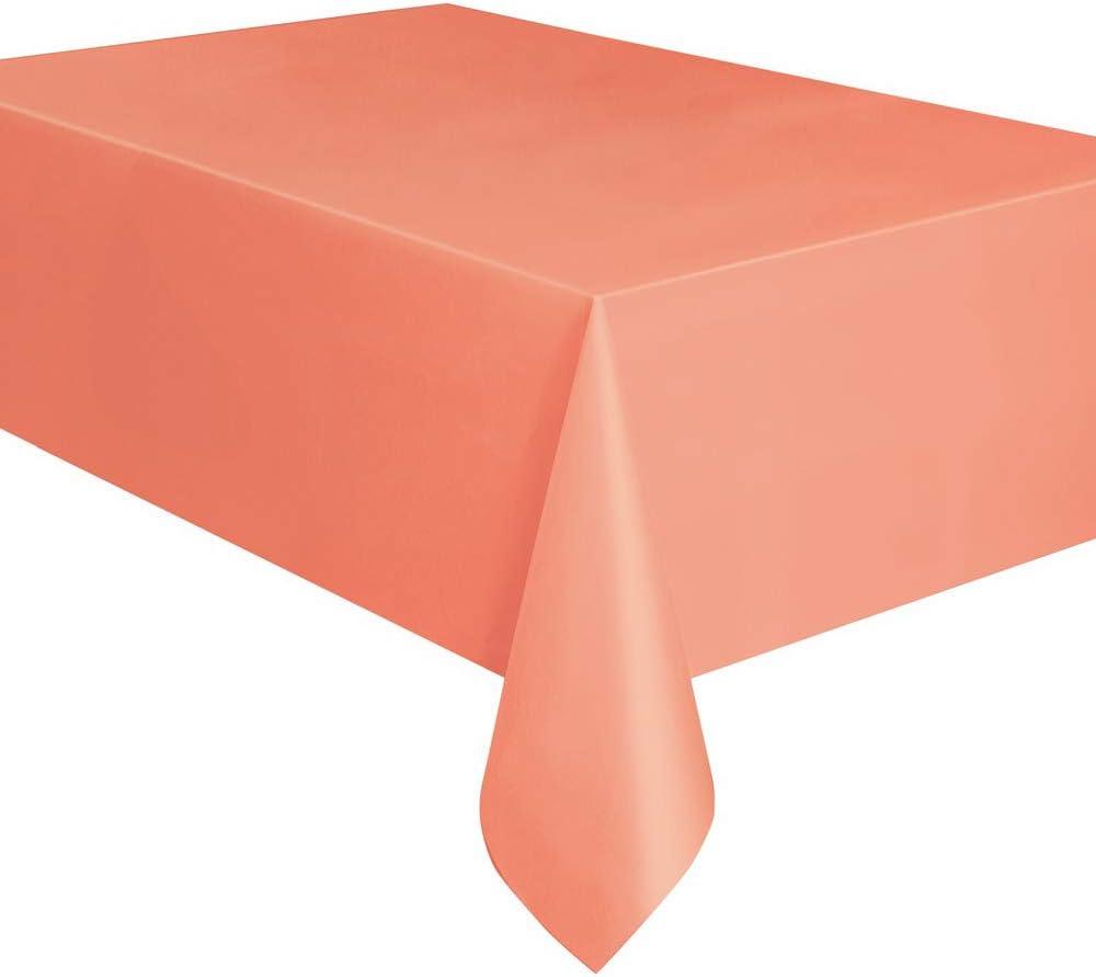Mantel de Plástico - 2,74 m x 1,37 m - Rosa Coral
