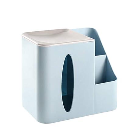 Caja De Pa/ñuelos Piel Caja Porta Toallitas Faciales Caja De Madera para Pa/ñuelos Cubo Dispensador De Papel Servilletas De Pa/ñuelos para La Oficina En Casa Decoraci/ón Automotive