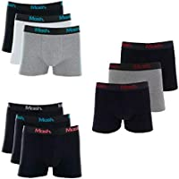 Kit 6 Cuecas Boxer Mash Algodão Cotton Box Original Oferta