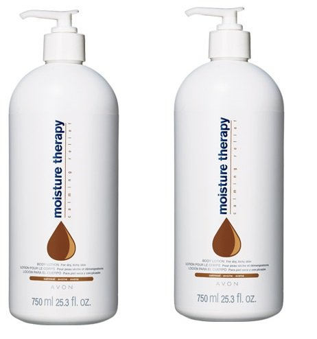 2 MOISTURE THERAPY Calming Relief Family Size Body Lotions