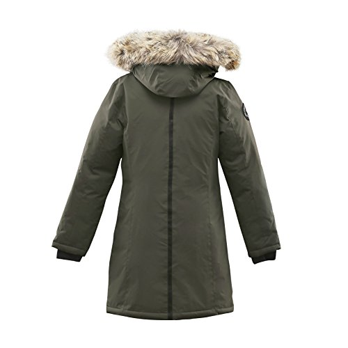 Triple F.A.T. Goose Alistair Womens Hooded Arctic Parka With Real Coyote Fur (Medium, Olive) by Triple F.A.T. Goose (Image #1)