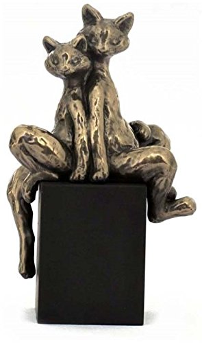 5.25 Inch Cats - I've Got Your Back Cold Cast Bronze Figurine