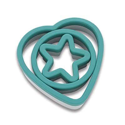 KitchenAid Gourmet Cookie Cutters Rim (Deep Teal, Set of 3)