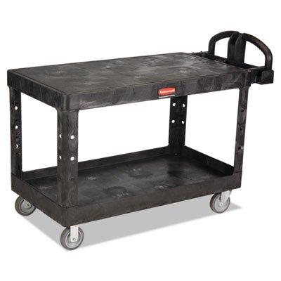 RCP4545BLA - Heavy-Duty 2-Shelf Utility Cart