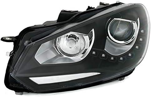 Ad Tuning Scheinwerfer Set In Schwarz Mit Led Tagfahrlicht Tfl Lwr H7 Auto