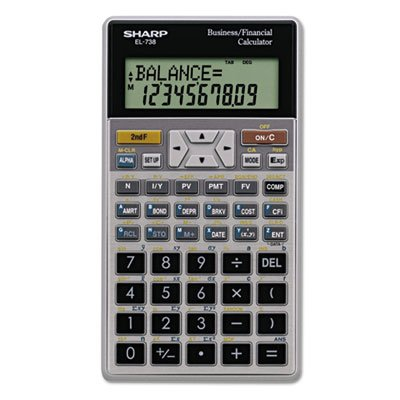 EL-738C Financial Calculator, 10-Digit LCD, Sold as 1 Each SHARP ELECTRONICS