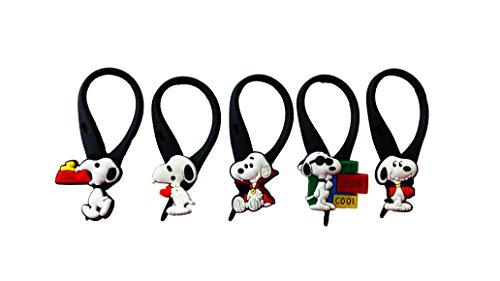 AVIRGO 5 pcs Soft Zipper Pull Charms for Backpack Bag Pendant Jacket Set # 42-3 (Can Can Sally Child Costume)