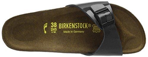 Birkenstock Original Madrid Birko Flor Stretta, , Black Patent, 040303 35,0