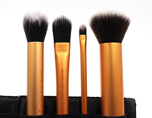 High Quality 2016 New 4pcs Professional Beginner Makeup Brush Cosmetic Brushes Real Makeup Powder Brushes Techniques Set Kit (Pearson Travel Brush Mason)