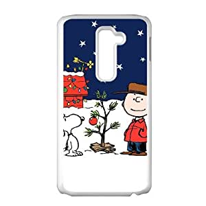 Charlie Brown and Snoopy LG G2 Cell Phone Case White JR5191825