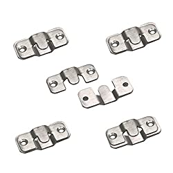 ZXHAO 44x19mm (1-3/4 x 3/4 inch) Stainless Steel Flush Mount Picture Heavy Hangers 10pcs