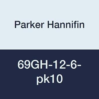 Parker Hannifin 69GH-12-6-pk20 Garden Hose Fitting Pack of 20 Brass 3//4 Hose Thread x 3//8 Male Thread 3//4 Hose Thread x 3//8 Male Thread Parker Hannifin Corporation