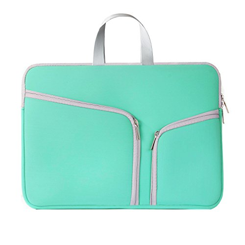 """HESTECH-Neoprene Soft Sleeve Case Bag for All Laptop 15-inch & MacBook Pro 15.4"""" with or without Retina Display - Hot Teal"""