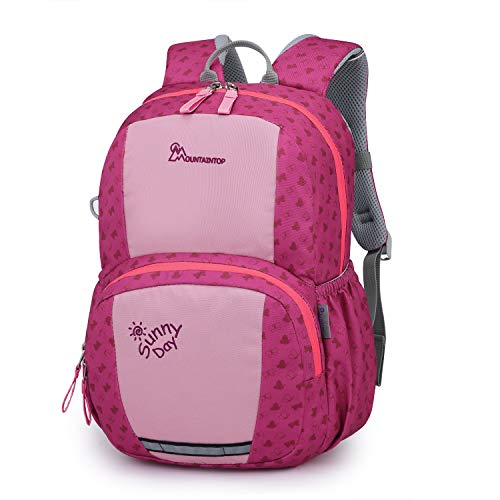 Mountaintop Kids Backpack/Toddler Backpack/Pre-School Kindergarten Toddler Bag (Rose Red)