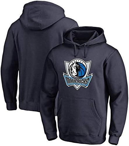 バスケットボールパーカーNBAジャージーダラスマーベリックススポーツジャケットスウェットシャツトップスバスケットボールコンペティションジャージ (Color : Dark Blue, Size : XX-Large)