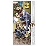 HALLOWEEN Walking Dead Party ZOMBIE RESTROOM Bathroom DOOR COVER Decoration Prop