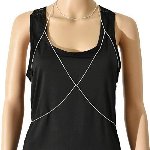 Hebel Pretty Women Bra Bikini Beach Harness Necklace Waist Belly Body Chain Jewelry XJ | Model NCKLCS - 32798 |]()