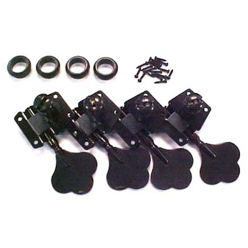Mighty Mite Vintage Style Electric Bass Guitar Tuning Machines – Black