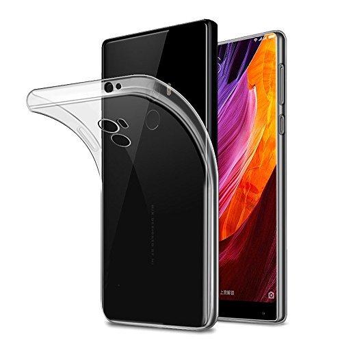 Price comparison product image Xiaomi Mi Mix Case, AVIDET Shock-Absorption, Anti-Scratch Soft Gel TPU Silicone Case Cover for Xiaomi Mi Mix (Transparent)