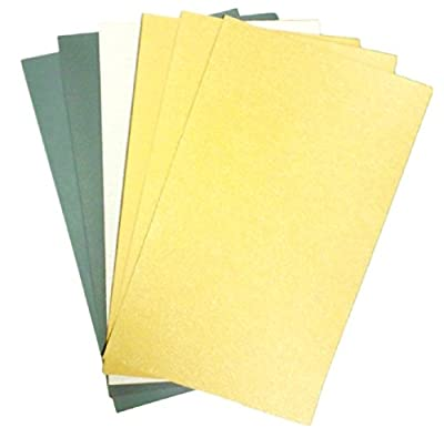 6 Sheets Sandpaper for Plastic Models, Automotive Sanding, Wood Furniture Finishing, Before Paint Finishing (#60 - #1000)