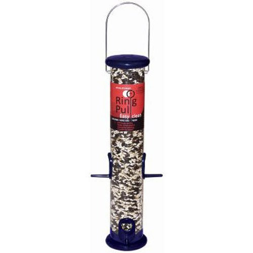 Droll Yankees RPS15B 15-Inch Ring Pull Tube Seed Feeder, Midnight Blue