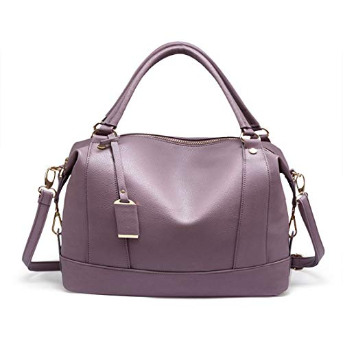 Purple Borse Donna Igspfbjn Litchi Per Tracolla color Red Modello Retro Boston A P8g8qwSx