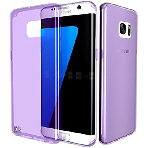 S7 Edge Case,KS [Crystal Clear] Ultra[Slim Thin] Flexible TPU Gel Rubber Soft Skin Silicone Protective Case Cover for Samsung Galaxy S7 Edge-Purple Sales