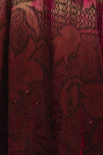 Sakkas Dye Manches Floral Tie Sans Multicolore Chemisier Paillettes Crme Marron and FangrF