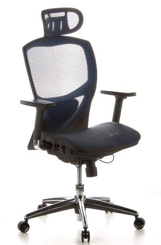 hjh OFFICE 657010 silla de oficina VENUS ONE tejido de malla azul silla ejecutiva ergonomica
